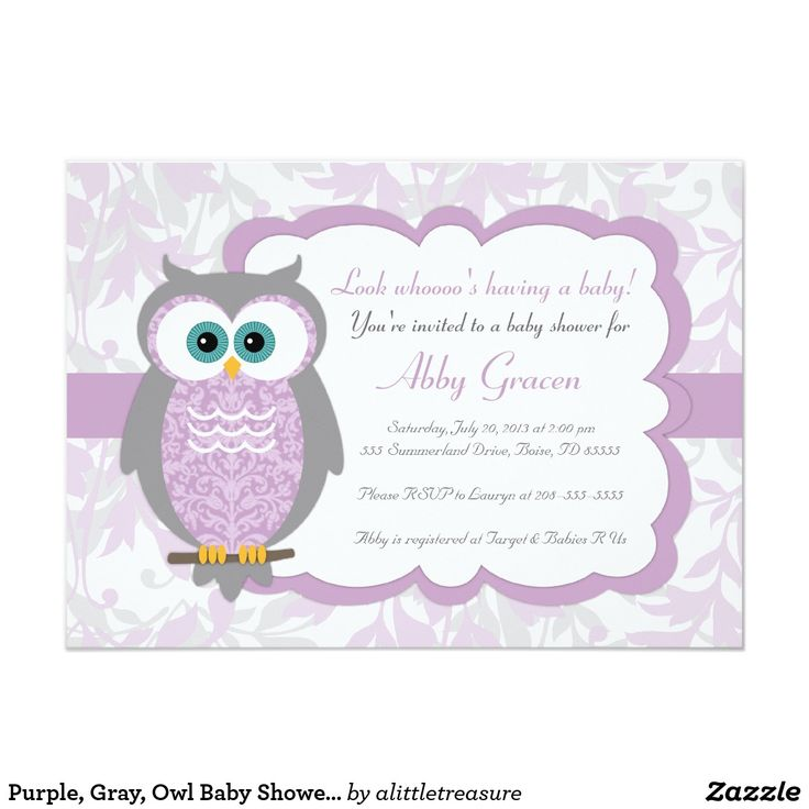 22 best Owl baby shower invitations, girls, boys or twin images on ...