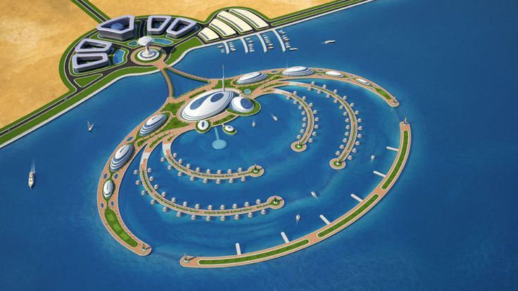 Semisubmerged hotel resort with floating suites, Amphibious 1000 in Qatar, like a big aquatic animal stretching out from the land into the sea and extends horizontally for 1km. This floating architecture designed by Giancarlo Zema, in the sea section has four innovative semisubmerged hotels with underwater halls that give fascinating views. To the smaller floating platforms will be anchored 80 floating suites the Jelly-fish with underwater views within the artificial reef…