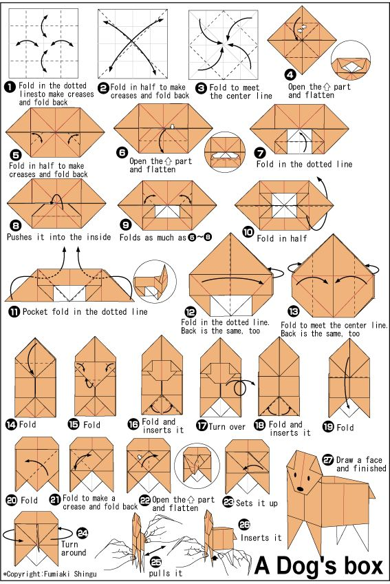 Diy origami dachshund tutorial paper art pinterest - 1000 Images About Origami Animals Dog Op Pinterest