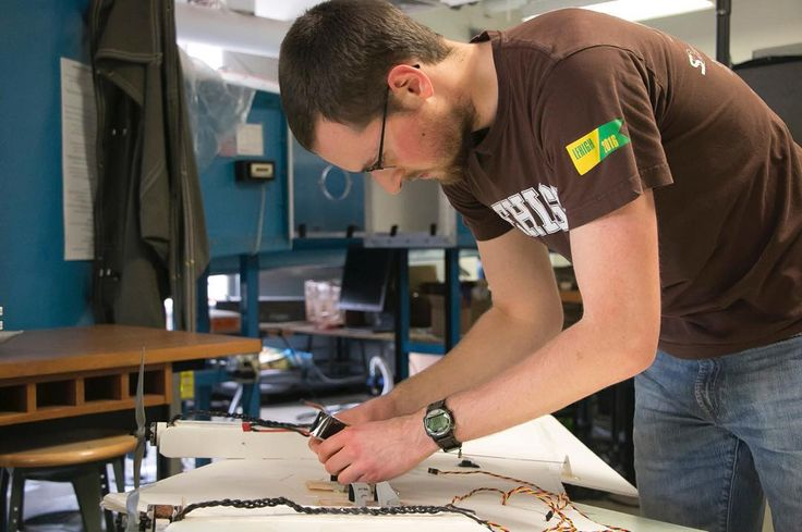 Ben Ivie'16 is a mechanical engineer and recipient of the presidential scholarship and intends to go to #graduate school here at #lehigh. The aircraft he is working on is designed to carry another smaller aircraft to any altitude. #wedocoolthings #graduatestudies #aeronautics #airplanes #mechanicalengineering