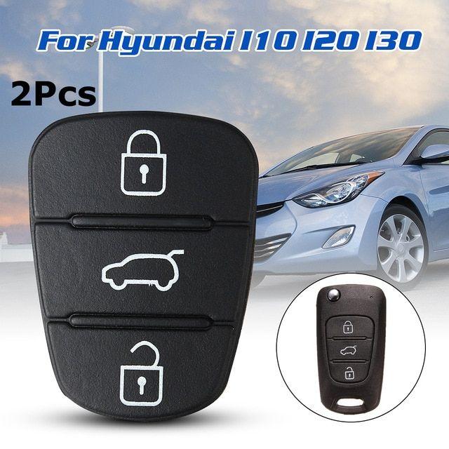 2x 3 Button Remote Key Fob Case Rubber Pad Flip Key Key Shell Case