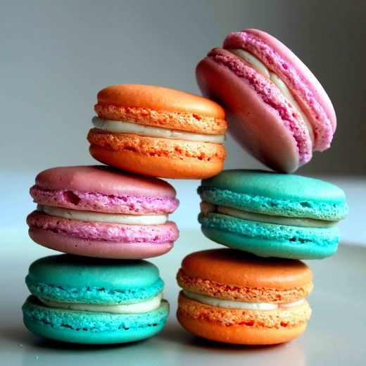 Colourful and  Perfect Macarons