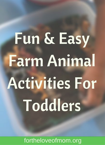 I don't know about yours buy my toddler is obsessed with animals, especially farm animals. We recently  we did one farm related activity each day. Needless to say, it was a big hit. Here are a few ways that you can bring on the fun farm animal fun with your toddler. And, as always, they are all easy