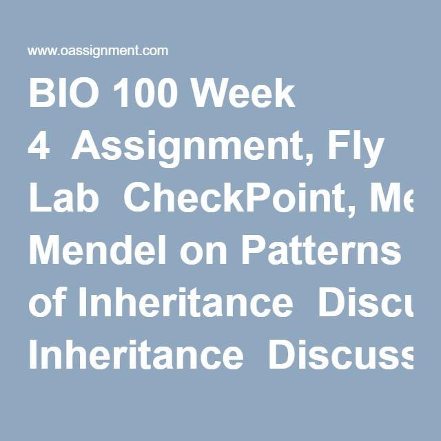 Bio 100 Week 4 Assignment  Checkpoint  Lab
