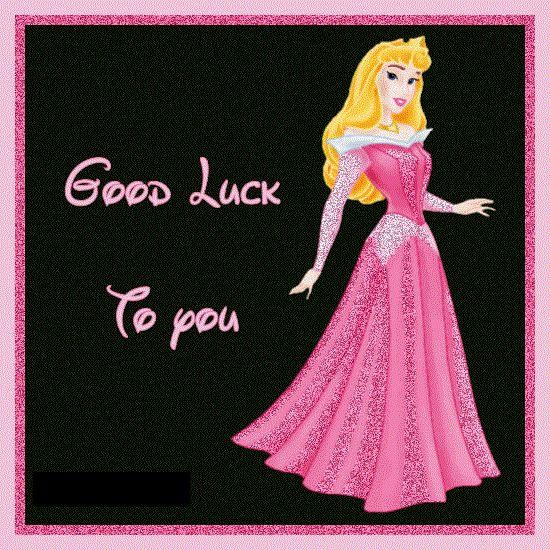 Princess wishing good luck to you