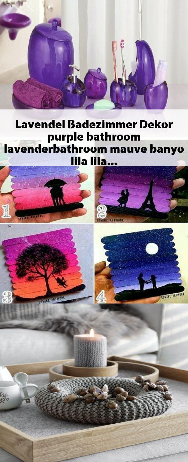 Lavendel Badezimmer Dekor Purple Bathroom Lavenderbathroo Mit