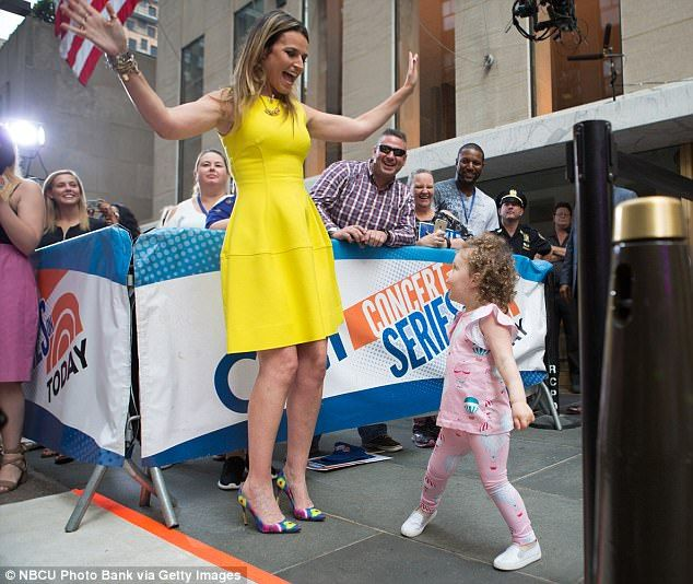 Savannah Guthrie's daughter makes her TV dancing debut | Daily Mail Online