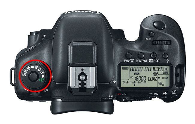 Canon 7D Mark II PASM Dial