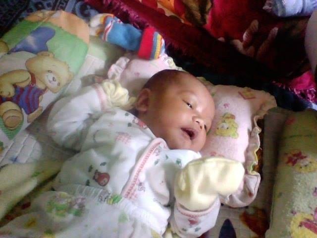 Haidar Ali waktu masih bayi, dia lagi tidur dan memimpikan masa depannya yang cerah. Aamiin.