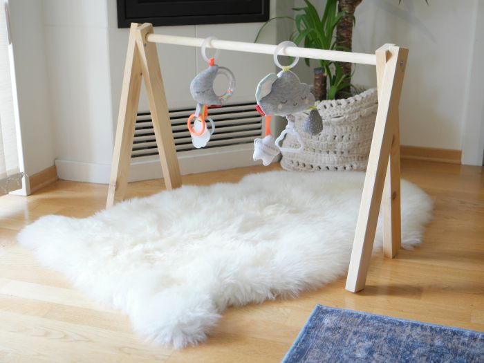 DIY baby gym for twins