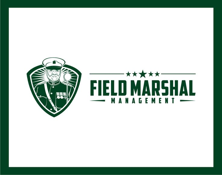 Create a simple yet elegant mascot for Field Marshal Management by C94