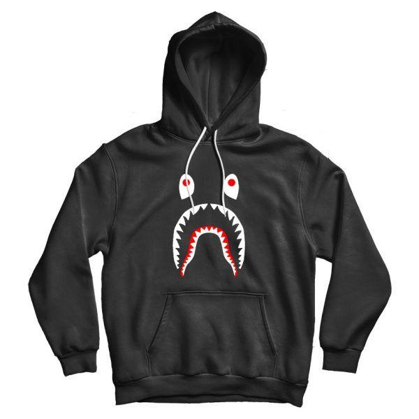 Bape A Bathing Ape Shark Tiger Head Double Cap Hoodie Sweatshirt Coat Jacket