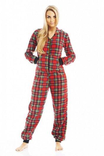 Stay warm in this tartan onesie- £25.00 <3 http://www.axparis.com/products/Fleece-Tartan-Onesie-.html
