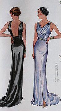 McCall 8115 | ca. 1935 Ladies' & Misses' Evening Dress after Agnès Drecoll