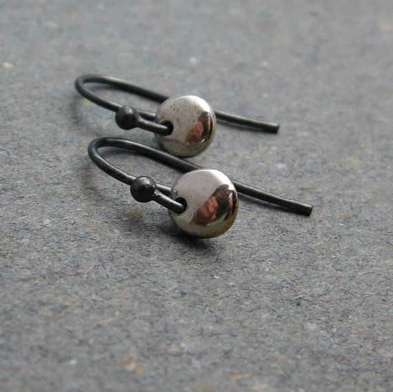 Minimalist Sterling Silver Earrings . Petite Drop Earrings