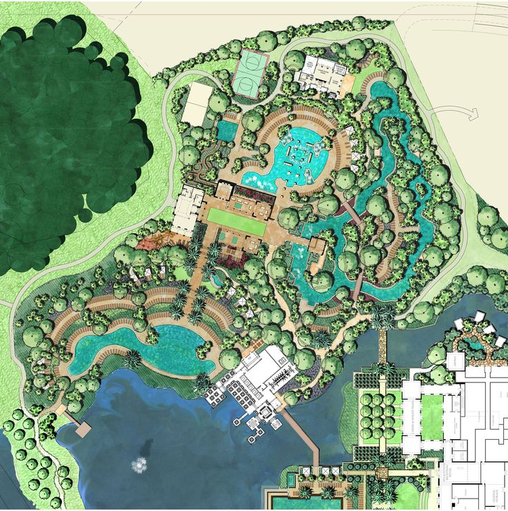 Master plan of amenity island project four seasons - Hotel design planning and development ebook ...