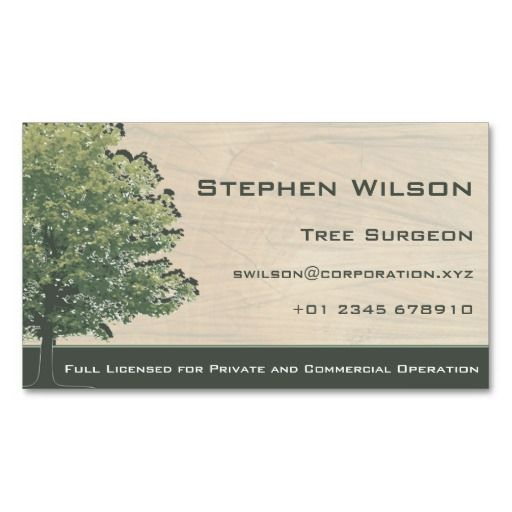 Tree surgeon business card