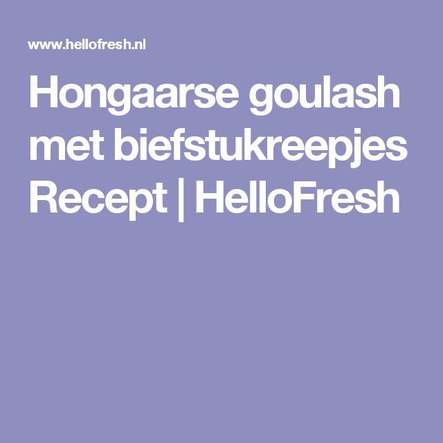 Hongaarse goulash met biefstukreepjes Recept | HelloFresh