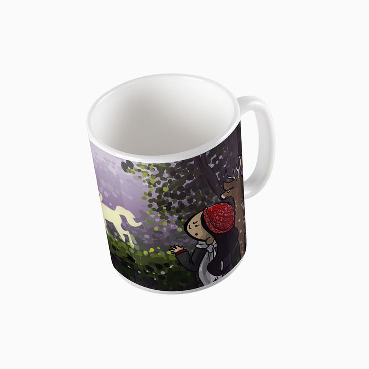 "#rainydays ""Unicorn Forest"" #mug - available on The Mutiny, design by #MaraLiem http://wearethemutiny.com"