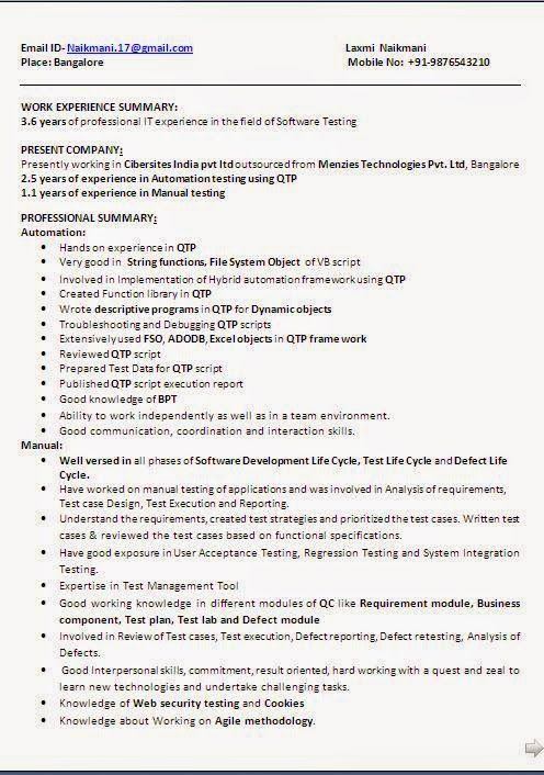 european cv Beautiful Excellent Professional Curriculum Vitae - manual testing sample resumes