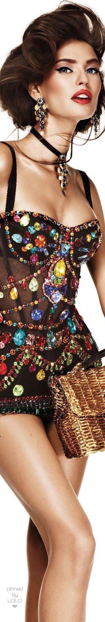 Bianca Balti in Dolce & Gabbana Vogue Japan   LOLO❤︎