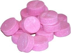 Pink wintergreen candy might be the most old-fashioned pink candy there is.  Grandma gave them to me when I had a cough, so they weren't really candy at all.