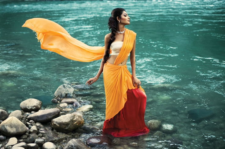 NRITYA  As her journey progresses,  young Ganga exudes unparalleled grace.  She sways down the rocky slopes   in a passionate dance.  View Collection here: http://bit.ly/GangaNritya
