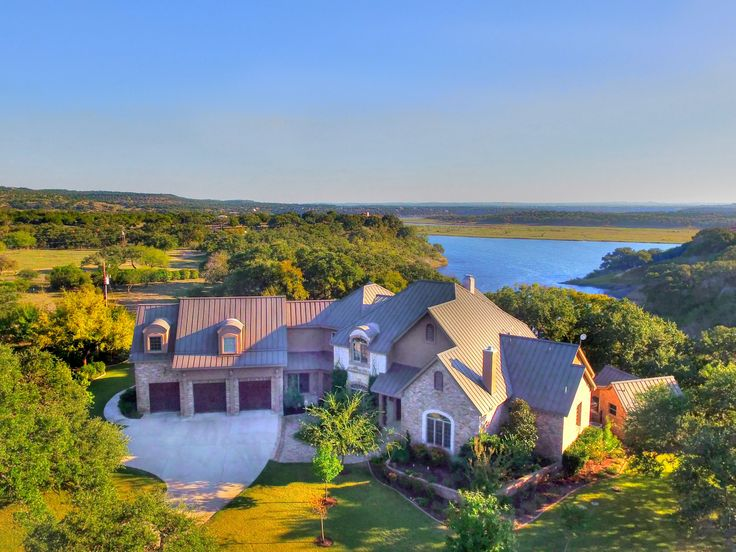 #waterfrontwednesday Elegant Waterfront Estate in Marble Falls  Listed by Kim Lookabaugh