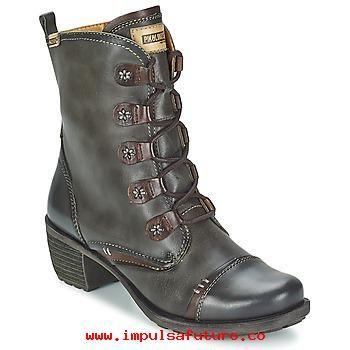 Venta de Diseño Pikolinos LE MANS GLICO Gris - Zapatos Botines Mujer Piel , cuero Botines TNkEs3M9