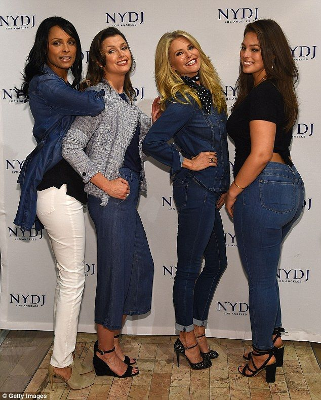 Mixing up the styles: The women are also in New York City today, promoting the campaign an...