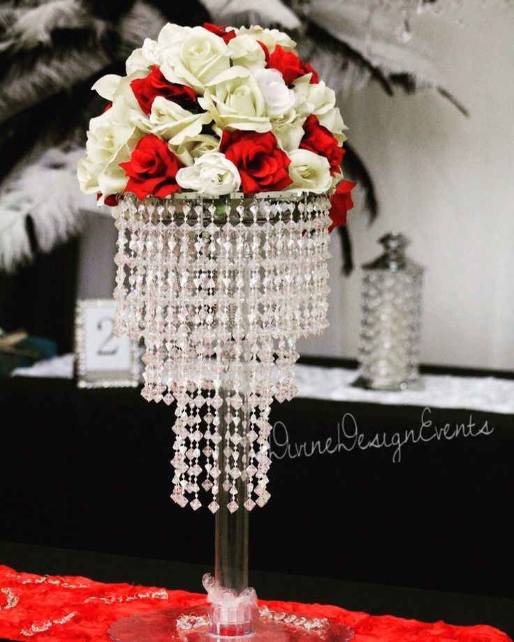 36 Best Bling Wedding Centerpieces Images On Pinterest