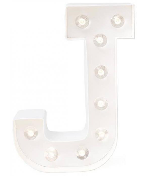 Licht Letters Light Letter J