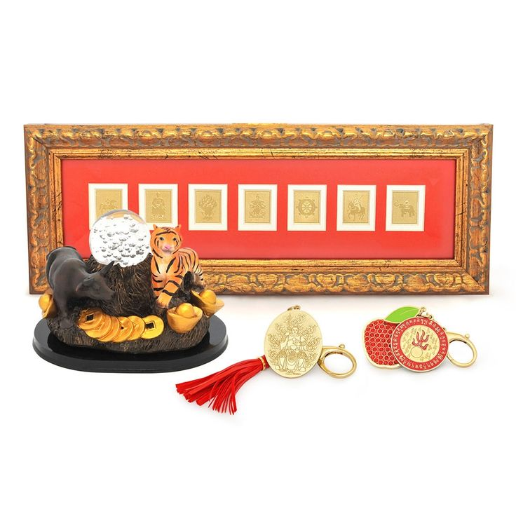 2015 HOROSCOPE KIT FOR OX  This kit includes:  Tiger & Ox Crystal Ball Tai Sui Amulet for 2015 7 Royal Emblems Plaque Peace & Harmony Amulet FREE Jade Cicada
