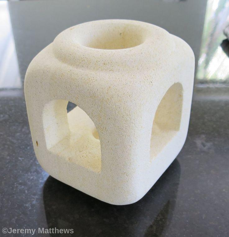 Lantern made from an offcut of Oamaru Stone