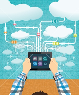 Cloud computing Royalty Free Stock Vector Art Illustration