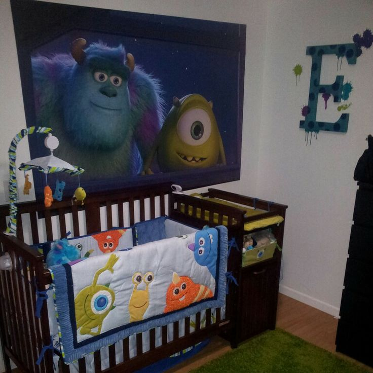 Our son's Monster's Inc room (one side) #momstersinc