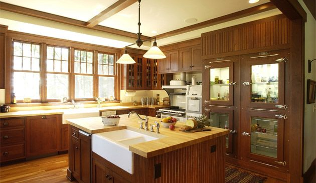 arts and craft butcher block top white sink other color With kitchen colors with white cabinets with arts and crafts wall sconce