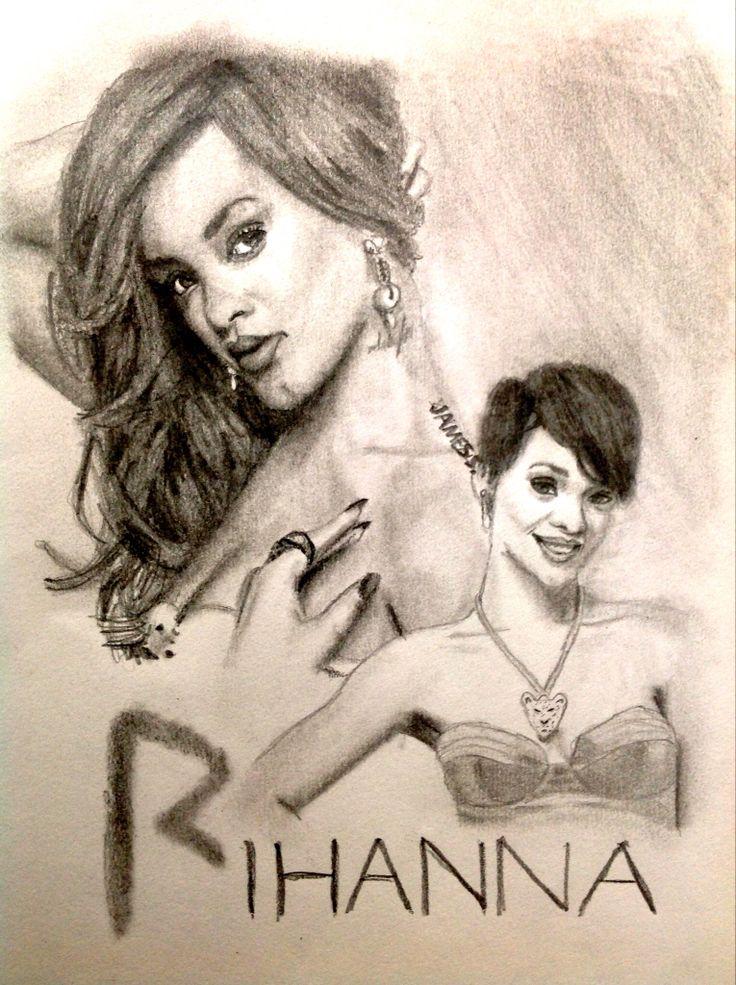 Celebrity Sketch of Rihanna