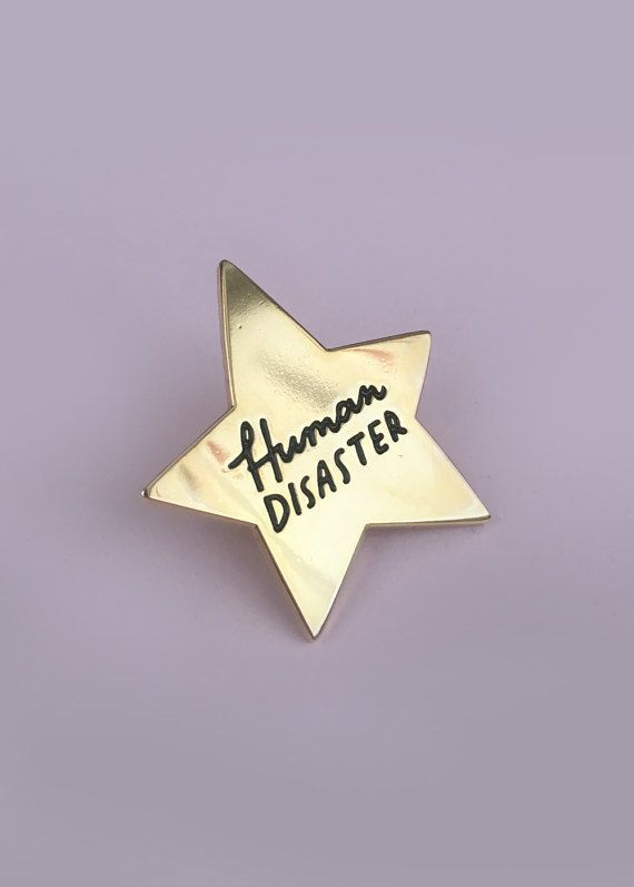 Terrible at life? Here, have a gold star for being so bad at it! Inspired by my favourite #iceclown, former Boy-Mayor and bad boy accountant, Ben Wyatt. 30mm wide, gold plated enamel pin.