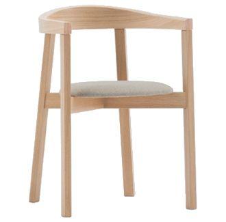 Uxi Armchair. Made in Poland, European beech timber tub chair.