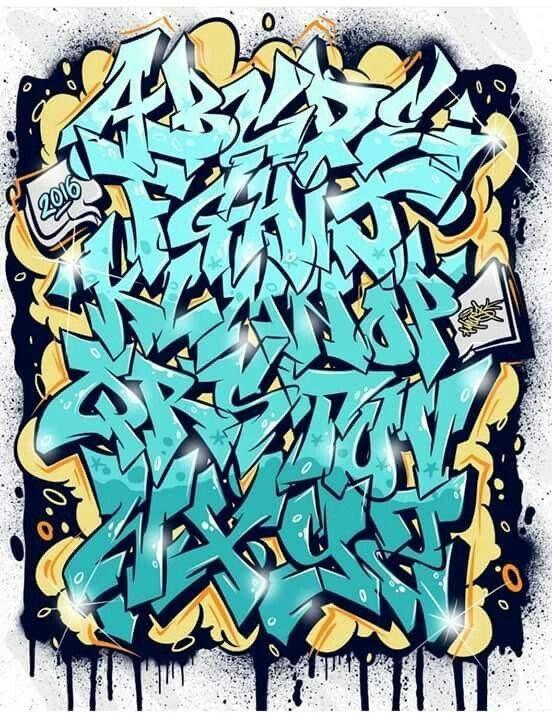 dibujar abecedario o letras en graffiti 5