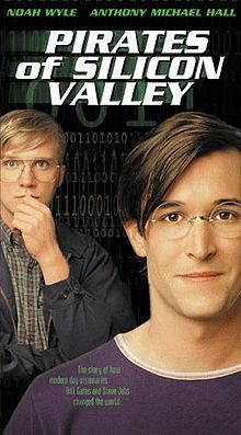 """Pirates of Silicon Valley"" TNT tv docudrama based on history 1971-1997, not all facts...based on book by based on Paul Freiberger / Michael Swaine's book ""Fire in the Valley: The Making of The Personal Computer"" • dir. by Martyn Burke • Steve Jobs by  Noah Wyle (Spielberg's 2011-06 Falling Skies) • Bill Gates by  Anthony Michael Hall (John Hughes's 1985  The Breakfast Club +  Weird Science)"