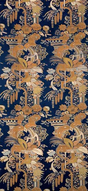PANEL OF  SILK SATIN  Chinese Export for the European Market, ca. 1708–10