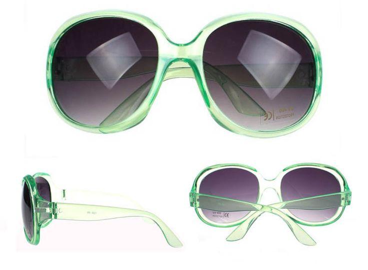 Store grønne solbriller