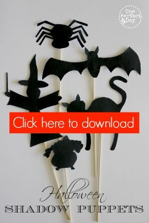 Halloween Shadow Puppets and Free Printable Template - One Perfect Day
