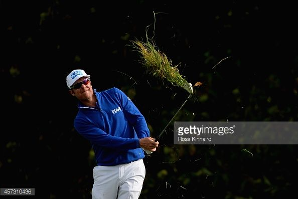 Mikko Ilonen of Finland in action during the first round matches of the Volvo World Match Play Championship at The London Club on October 16, 2014 in Ash, United Kingdom.