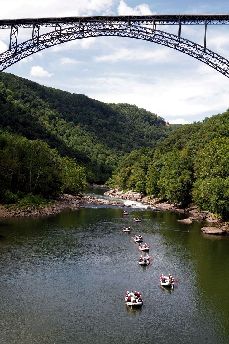 West Virginia - New River Gorge Bridge ... I'm feeling some rafting there in the near future. Beautiful.