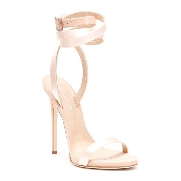 GIUSEPPE ZANOTTI DESIGN 'Julie' Satin Sandal With Crystal Details (130 KWD) ❤ liked on Polyvore featuring shoes, sandals, giuseppe zanotti sandals, giuseppe zanotti, giuseppe zanotti shoes, crystal embellished sandals and satin shoes
