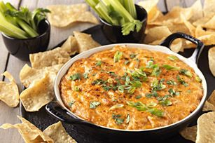 ~BBQ Chicken Dip~ 1 pkg.  (8 oz.) PHILADELPHIA Cream Cheese, softened; 1/2 cup  KRAFT Sweet Honey Barbecue Sauce; 1 cup  shredded cooked chicken breasts; 1 cup  KRAFT Finely Shredded Colby & Monterey Jack Cheeses; 2  green onions, sliced; 1/4 cup  chopped fresh cilantro