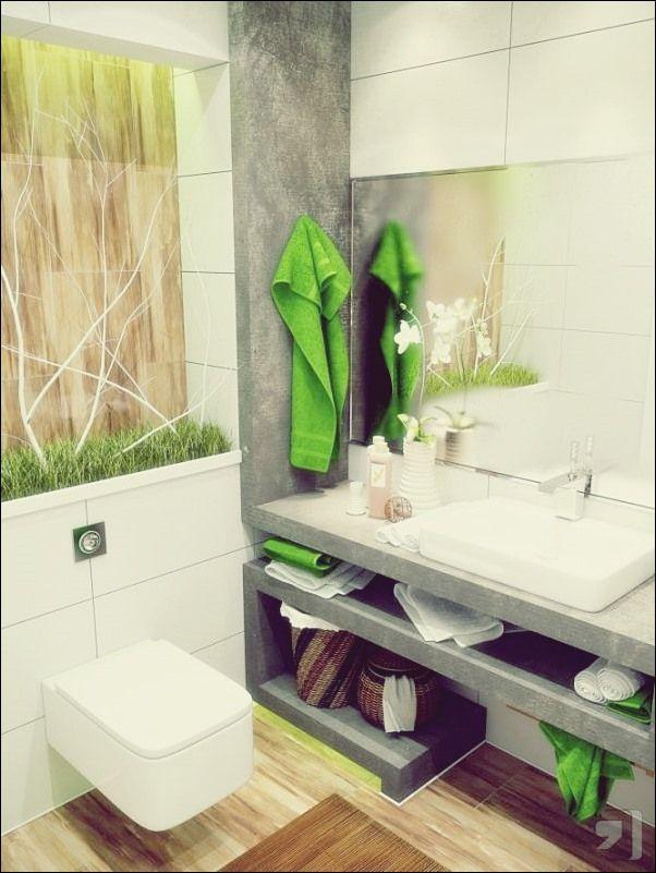 Zwei Stilvolle Kleine Badezimmerinnenausstattungen Bad Deko Badezimmer Klein Badezimmer Design Kleines Badezimmer Umgestalten
